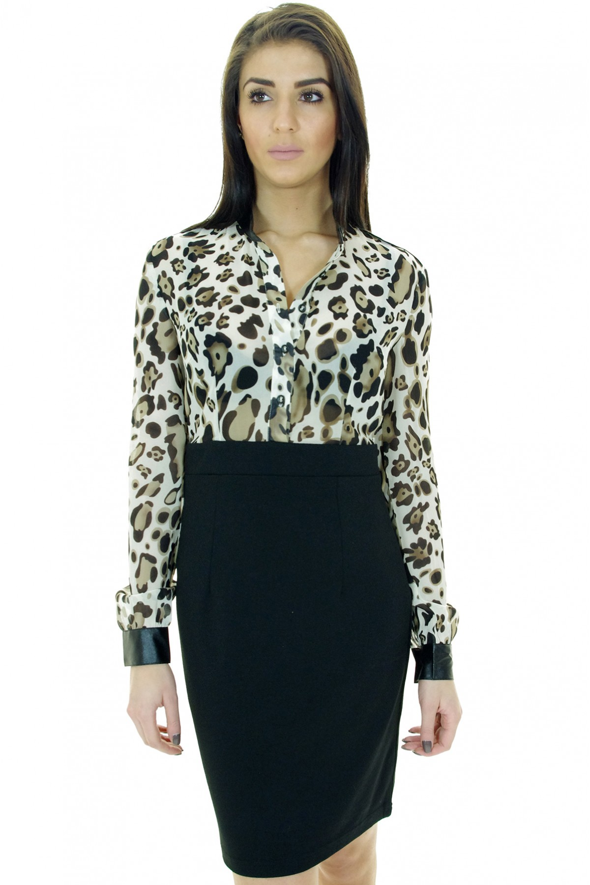 Download this Home Leopard Blouse Dress picture