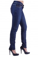 CREASE EFFECT DARK DENIM SKINNY JEANS