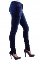 DISTRESSED DARK DENIM SKINNY JEANS